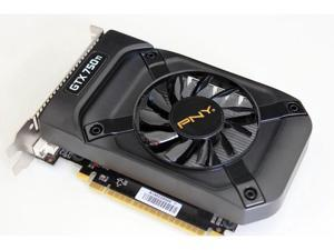 PNY NVIDIA GeForce GTX 750 Ti 2GB 128-Bit GDDR5 2DVI/Mini HDMI PCI-Express 3.0 x16 640 CUDA Cores Video Graphics Card