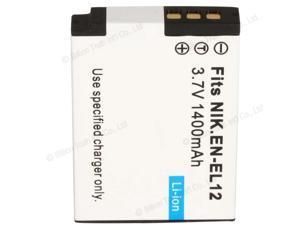 BATTERY for Nikon EN-EL12 Coolpix S9100 P300 S6100 S710