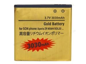 New Replacement Gold Extended 3030mAh Battery for Sony Xperia ZR M36H C5502 C5503 ZR LTE BA950