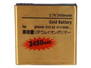 New Replacement 2450mAh 3.7V Battery for HTC Sensation EVO 3D 4G G14 G18 G21 Gold Sprint