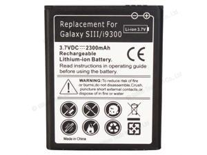 New Replacement 3.7V 2300mAh Battery for Samsung Galaxy S3 i9300 Black