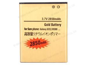 New Replacement 1 Pcs 3.7V 2850mAh Battery for Samsung Galaxy S3 i9300 i747 L710 Gold