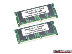 1GB Kit 2X 512MB SDRAM 144Pin SODIMM PC133 133MHz LAPTOP RAM Memory (Ship from US)