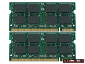 4GB KIT 2x2GB PC2-5300S DDR2-667 667Mhz 200pin SODIMM Memory Module DDR-667MHz PC2-5300 or PC2-6400 NEW (Ship from US)