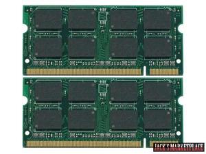 4GB Kit (2 * 2GB) DDR2-667MHz 200-Pin SODIMM Unbuffered Non-ecc DDR2-667MHz PC2-5300 or PC2-6400 Memory Dell Latitude D820 (Ship from US)