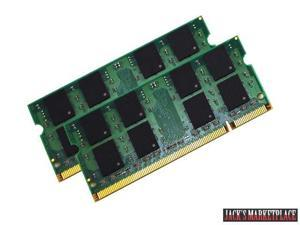 4GB (2X2GB) MEMORY DDR2-667MHz PC2-5300 or PC2-6400 256X64 PC2-5300 667MHZ 1.8V DDR2 200 PIN SO DIMM NEW (Ship from US)