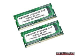 1GB (2x512 MB) PC3200 DDR-400Mhz 200Pin SODIMM LAPTOP Memory NEW (Ship from US)