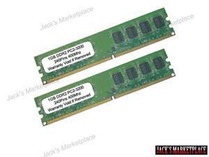 2GB (2X1GB) PC2-3200 DDR2-400MHZ 240Pin UnBuffered LOW DENSITY Desktop RAM MEMORY (Ship from US)