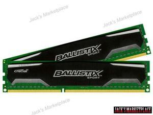 Crucial Ballistix Sport 4GB Kit (2GBx2) DDR3 1600 (PC3-12800) 240-Pin UDIMM Memory BLS2KIT2G3D1609DS1S00 / BLS2CP2G3D1609DS1S00 (Ship from US)
