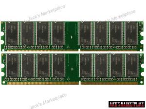 2GB KIT (2*1GB) DDR-333MHz PC2700 184-Pin DIMM Desktop Memory for Dell Dimension 1100 (Ship from US)