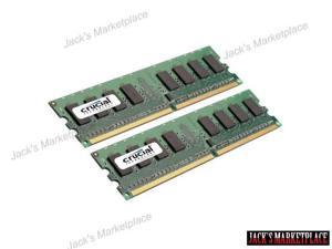 Crucial 2GB Kit 2 x 1GB DDR2 667MHz PC2-5300 Non ECC 1.8V Desktop Memory RAM 667 (Ship from US)