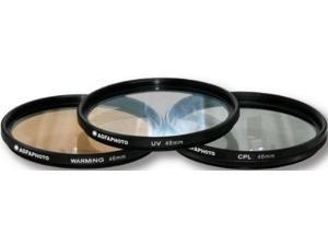 AGFA 3-Piece Professional Filter Kit 46mm - Ultraviolet (UV) + Circular Polar...