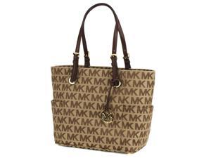 Michael Kors Jet Set East West Logo Satchel Tote - Beige / Mocha