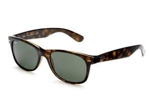 Ray Ban RB2132 Wayfarer Classic Sunglasses (55 mm) - Tortoise Frame/Green G-15 Lenses