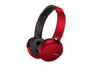 Sony MDR-XB650BT Bluetooth Over-Ear Headphones with Mic (Red)