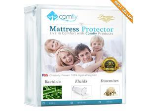 Mattress Protector - Finest Hypoallergenic Bed Protector - Clinically Proven Safe and 100% Water Proof Bed Protectors