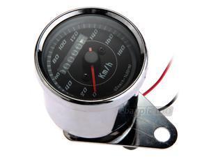 Blue LED Backlight Universal Odometer Speedometer Gauge km/h for Motorbike New