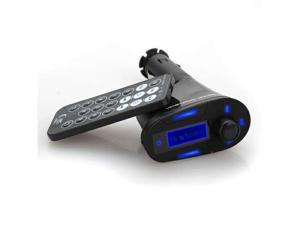 LCD Car Kit MP3 Player Wireless FM Transmitter Modulator USB/SD/MMC Remote control 360 degree rotation