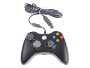 Black Wired USB Controller for Microsoft Xbox 360 Console,PC Computer Windows