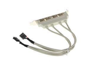 4-Port Mainboard USB 2.0 Header Host Case Rear Panel Backup Bracket Extension