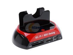 "New 2.5"" 3.5"" SATA/IDE HDD 2-Dock Docking Station e-SATA USB Hub"
