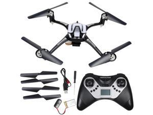 GPTOYS F1 RC Helicopter 2.4GHz RC Helicopter Remote Control Helicopter Quad Copter Gyro 6 Axis LED Flashing Lights Explorers Drone UFO RC Quadcopter 3D Flip with HD 2.0M Pixels Camera & 4G SD Card