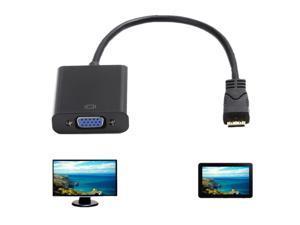 Mini HDMI Male to VGA Female Video Converter Adapter AV TV Cable