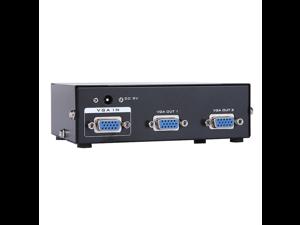 350MHz 1 PC to 2 Port VGA SVGA LCD Video Monitor Splitter Switcher Switch Box MT-3502