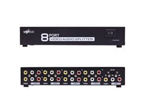 1 to 8 Ports Selector TV DVD Splitter Box 8 Ports RCA Video Audio AV Switch