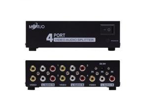 4 Ports Video Audio RCA AV Switch Selector 4-Way Splitter Box