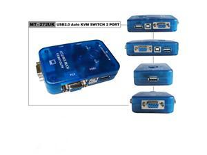 2 Port KVM Switch Auto USB 2.0 Switch New