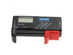 Portable BT-168D Digital Battery Checker Volt Tester for AA AAA C D 9V 1.5V Button Cell Battery