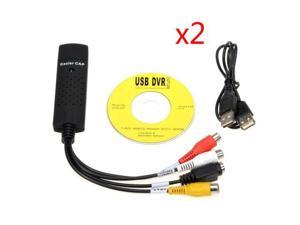 2X Easycap USB 2.0 to 3 RCA Audio S-Video TV Video Audio VHS to DVD HDD Converter Capture Card Adapter