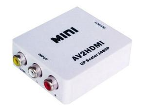RCA AV to HDMI Converter Adapter Mini Composite CVBS to HDMI AV2HDMI Converter in Retail Package 1080P