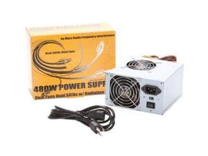 New Logisys PS480X2 480Watt ATX Power Supply N-ew Dual 2 Fans  480W  PSU NEW