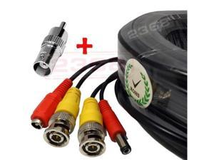 Lot 2 x 150ft Security Camera BNC Video Power Cable DVR Surveillance CCTV Wire