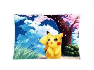 Cartoon Pokemon Cute Pikachu 20X30 Inch 2 Sides Zippered Soft Cotton Pillow Covers Decorative Cushion Covers