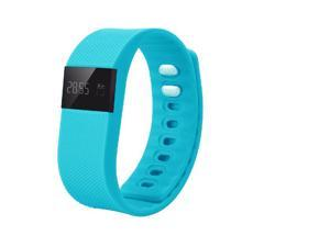 NEK Tech TW64 Bluetooth4.0 Smart Waterproof Wristband - Pedometer, Silicone Strap, Aluminium Case (Blue)