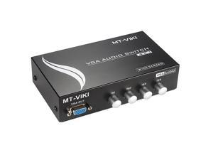 MT-VIKI 4 Ports 4-In 1-Out VGA and AUDIO Metal Splitter Amplifier Switch Adapter MT-15-4AV
