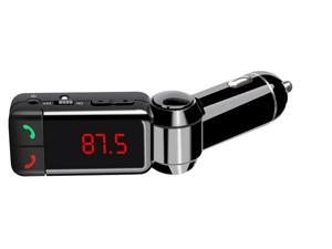 NEK Tech High Performance Digital Bluetooth Car Kit with LED Screen and Aux Input Jack (3.5 mm)Wireless In-Car Bluetooth FM Transmitter with Charging Hands-Free Calling for iPhone ipod Samsung
