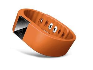 NEK Tech TW64 Smart Wristband Pedometer Bracelet Silicone Strap Aluminium Case Anti-lost Waterproof Sport Sleep Health Monitor Bracelet Smart Bluetooth4.0 Sync Wrist Smartband (orange)