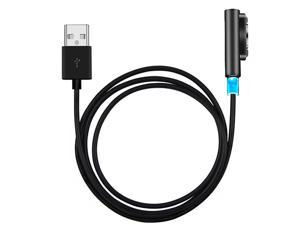 For Sony Xperia Z1 / Z2 / Z1S / Z3 NEK Tech High Performance 3FT Magnetic Charging Cable With LED Indicator (Black)