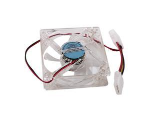 8cm Blue LED 4Pin Brushless DC Cooling Fan for PC Computer Chassis Case