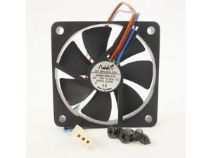 60mm 10mm Case Fan 12V DC 14CFM 3pin CPU Computer Cooling Sleeve Brg 235a*