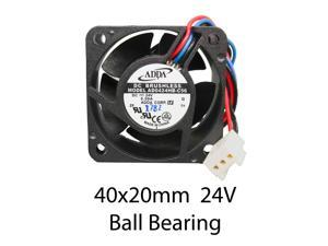 40mm x 20mm Case Fan 24V DC 8CFM PC Computer Cooling 3pin Ball Brgs 296a*