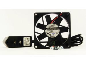 80mm 15mm Case Fan 110 115 120V AC 26CFM Ball Brg 1365a*