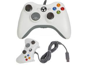 White Wired USB Game Pad Controller For Microsoft Xbox 360 PC Windows