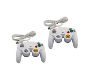2 X White Game Wired Controller Pad for Nintendo Gamecube GC WII