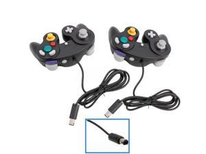 Lot2 Game Controller Pad Joystick for Nintendo GameCube GC or Wii Black