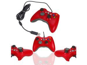 Red Wired USB Game Pad Controller Joypad For Microsoft Xbox 360 PC